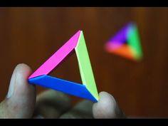 Modular Origami - How to make Modular 3D Triangle Origami - YouTube