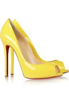 #Christian Louboutin#Flo 120 patent-leather peep-toe pumps#NET-A-PORTER.COM