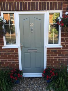 PVC front door after painting