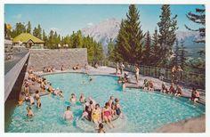 Postcards - Canada # 94 - Upper Hot Springs Pool, Banff, Alberta