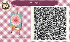 Adorable Flower Animal Crossing QR Code - Flag/Sign