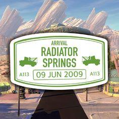 Radiator Springs Inspired Clear Passport Sticker