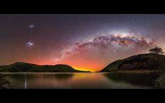 La Vía Láctea y las Nubes de Magallanes desde Nueva Zelanda | El Universo Hoy