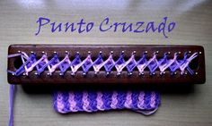 Punto Cruzado Bicolor en Telar Maya/ Crossed stitch on loom