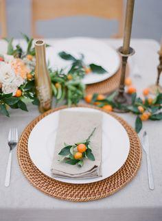 Orange wedding inspiration via Wedding Sparrow blog http://weddingsparrow.com