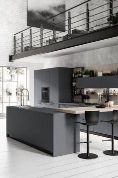 White Kitchen Wall with Dark Cabinet Beautiful 20 Dark Kitchen Ideas for Every Kitchen Size
