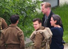 On the set of Dunkirk. (!!)
