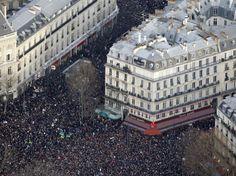 Les incroyables photos aériennes de la marche républicaine à Paris le 11 Janvier 2015