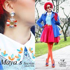 Tamara, autorka blogu Macademian Girl, wybrała do swojej stylizacji kolczyki By Dziubeka z kolekcji Maya's Secrets. Kolczyki dostępne w wybranych stoiskach w całej Polsce. #bydziubeka #jewelry #earrings
