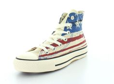 Mens Chuck Taylor All Star US Flag Print Sneaker