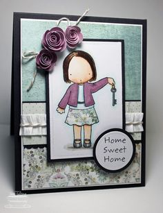 PI card by Jodi Collins. I like how she did the ribbon across the card.