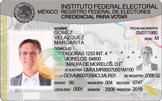 Mexican IFE Card (New) PSD Template – Photoshop File