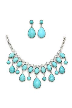 Daphne Necklace in Turquoise
