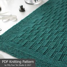 "The Prairie Fields Blanket KNITTING PATTERN is easy to knit with worsted weight yarn ************* Pattern includes directions for SIX sizes: Approximate sizes after blocking… Baby: 28"" wide x 31.25"" long Small: 31"" wide x 35"" long Medium: 34"" wide x 38.75"" long Large: 38"" wide"