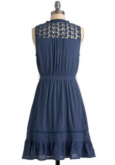 Mount San Jacinto Dress in Blue. Though one of the most beautiful sights in the world might be the view from Mount San Jacinto, the vivacious vision of you in this fine, dusty blue frock undoubtedly rivals those gorgeous landscapes. #blue #modcloth
