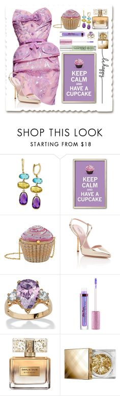 """""""Lavender Flavored Cupcake"""" by maheanani ❤ liked on Polyvore featuring Effy Jewelry, Judith Leiber, Giambattista Valli, Palm Beach Jewelry, Lime Crime, Givenchy, Burberry and Urban Decay"""