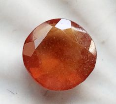 1 Pc 11x11.5mm Hessonite Garnet Faceted Round Cut by gemsforjewels