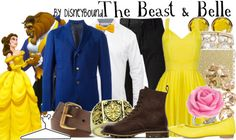 disneybound couples, beast bell, couple disneybound, beauti, belle, beauty, the beast, disney bound couples, disney fashion