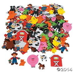 Fabulous Foam Self-Adhesive Farm Shapes: dress up your collage-fun and develop fine motor skills in the process!