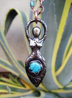 ✯ Earth Goddess Turquoise Pendant :: Etsy Shop SilviasCreations ✯
