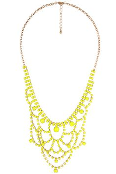 Scalloped Bib Necklace, $14.80, available at Forever21 - looks like a Kate Spade one I love.