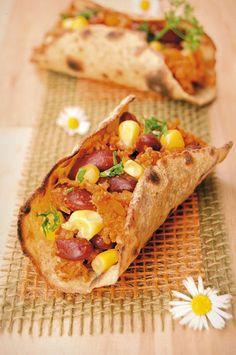 Tacos di ceci con chili vegetariano