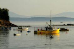 Lobster Boats, Bar Harbor, Maine fishing