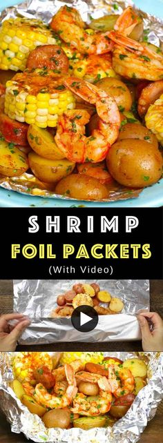 20 Minute Shrimp Boil Foil Packets Recipe (with Video)   TipBuzz