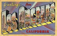 Postcard: Greetings from Los Angeles, California