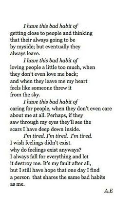 I hate feelings