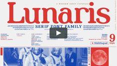 Lunaris - Serif Font Family- Multilingual- 9 Style INTRODUCTION - Lunaris Serif font family - OTF, TTF The Lunaris serif font family has an elegant character… Serif Typeface, Font Family, Fonts, Unique, Script Fonts, Wedding Fonts, Letters