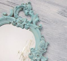 Baby Girl Nursery Decor Shabby Chic Mirror For by RevivedVintage, $62.00