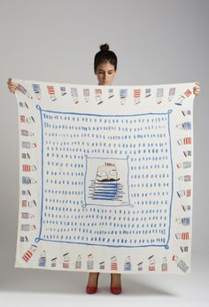"rumisu silk scarf named ""macho crew"" Textile Pattern Design, Designer Scarves, Scarf Design, Silk Screen Printing, Vintage Scarf, Textiles, Silk Painting, Silk Scarves, Design Crafts"