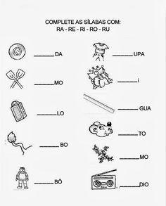 Educação Infantil - Alfabetização - Atividades para imprimir      Vogais A E I O U letras escrever copiar recortar colar      Aprendendo a ...