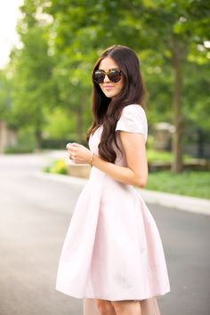 Blush Pink Cocktail Dress...