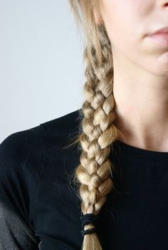 Hair Styles 2018 braids Discovred by : Byrdie Beauty My Hairstyle, Messy Hairstyles, Pretty Hairstyles, Four Strand Braids, Side Braids, Hair Day, Gorgeous Hair, Hair Inspo, Hair Looks
