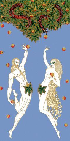 Erté - Adam et Ève