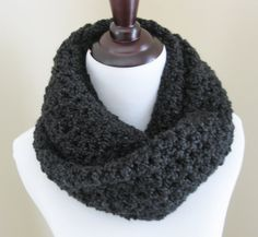 Handmade Crochet Womens Infinity Scarf/Fall by TheComfyBaby
