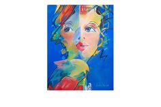Two Faces Have Eye Giclée Print
