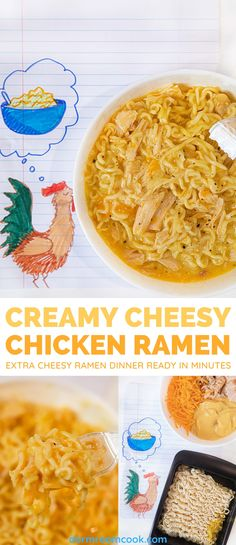 Extra cheesy ramen ready in the microwave in minutes. #Microwave #Microwavecooking #College #Collegelife #Dormroomcook Healthy Dorm Eating, Healthy College Meals, College Cooking, Clean Eating Desserts, Healthy Snacks, Cooking Kids, College Food, Healthy Breakfasts, Protein Snacks