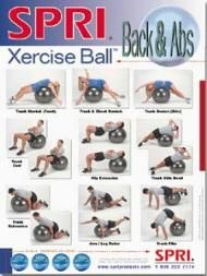 Xercise Ball™ Wall Chart - Back & Abs