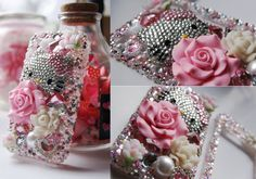 Kawaii Pink Hello Kitty Decoden Cell Phone Case by puredelusions on deviantART