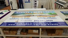 FASTSIGNS of Menomonee Falls banner, made for a customer. Check us out at fastsigns.com/452, call us at #262-253-0799, email us at 452@fastsigns.com, or come visit us at W173N9170 St. Francis Drive, Suite 1, Menomonee Falls, WI 53051