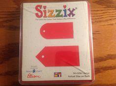 Sizzix Red Die Originals Tag Set New   eBay