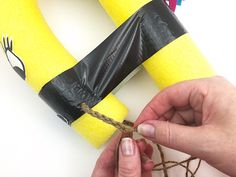 recycled craft, pool noodle craft, summer craft, recycled crafts