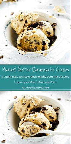 healthy ice cream Peanut Butter Banana Ice Cream is the best healthy, dairy-free ice cream around. It's made with only 3 ingredients that you probably have on hand right now. Sugar Free Ice Cream, Peanut Butter Ice Cream, Diy Ice Cream, Best Peanut Butter, Keto Ice Cream, Peanut Butter Banana, Banana Ice Cream Healthy, Banana Nice Cream, Banana Recipes