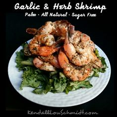 WEEKLY RECIPE: GARLIC AND HERB SHRIMP  #GlutenFree #GrainFree #DairyFree #SugarFree #LowCalorie #LowCarb #LowSodium #AllNatural #Paleo #HighProtein #LowFat  A quick and easy recipe to spice up a summer barbecue. These shrimp are just the slightest bit sweet and packed with a ton of delicious flavor, An excellent way to enjoy shrimp!  NUTRITION FOR AN 8OZ SERVING (18 MEDIUM SHRIMP): CAL 260 FAT 7.8G CARB 6G PROT 40G  NUTRITION FOR A 4OZ SERVING (9 MEDIUM SHRIMP): CAL 130 FAT 3.9G CARB 4G PROT…