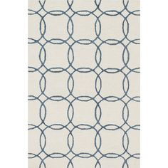 Found it at Wayfair - Panache Ivory/Blue Area Rug