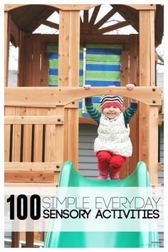 100 Simple Everyday Sensory Activities for Kids with oceanviewswingset AD