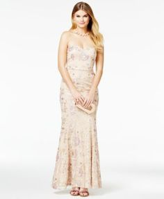 Speechless Juniors' Strapless Sequined Mermaid Gown | macys.com